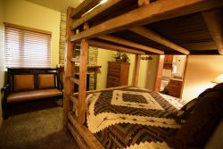 Lower Level - Bedroom 3 -  King over King Bunk Bed
